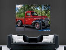 Cartel De Coche Retro Chevrolet Camioneta Hot Rod Pared Impresión clásica grande enorme