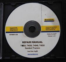 NEW HOLLAND T4020 T4030 T4040 T4050 STANDARD TRACTOR SERVICE REPAIR MANUAL CD