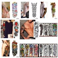 New Waterproof Temporary Sleeves Tattoo Sticker Large Full Arm Body Art Tattoos