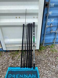 CARP MATCH FISHING TACKLE - SENSAS CARP X 8 METRE MARGIN POLE + TWO TOP KITS