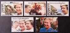 1992 Pitcairn Islands Stamps - 40th Anniversary of Queen Elizabeth II-Set 5 MNH