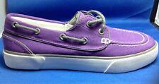 Polo Ralph Lauren Boat Shoes 6 Mens Lander Canvas Aluminum Eyelets Purple