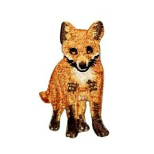 Id 0720 Wild Fox Patch Cute Cub Red Life Mammal Embroidered Iron On Applique
