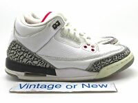 Nike Air Jordan III 3 White Cement Retro GS 2011 sz 5Y