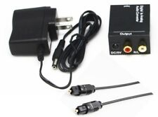 Digital Audio Converter Optical Toslink Coaxial to Analog Sound Adaptor