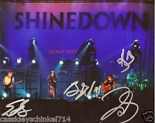 "Shinedown band Reprint Signed 8x10"" Photo #1 RP ALL 4 Members Brent Smith"