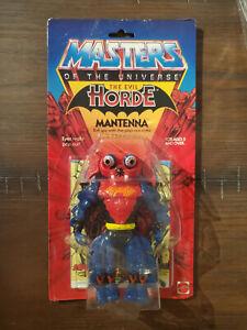 Vintage 1984 MOTU Masters of the Universe Mantenna Figure on Card