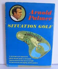 ''ARNOLD PALMER SITUATION GOLF BOOK RARE WITH 2 SIGNATURES & BAY HILL CARD ''