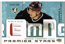 03-04 UD Premier Collection STARS PATCH xx/100 Made! Sergei FEDOROV - Ducks