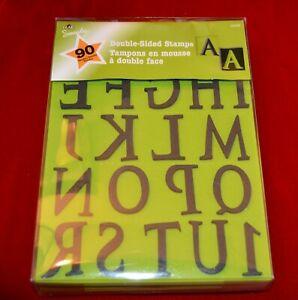 Plaid double sided foam stamp set 90 piece letters symbols (NEW)
