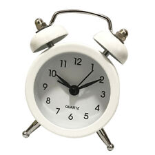 5cm Twin Bell Alarm Clock, Battery Operated Loud Alarm Clocks Timer White