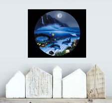 Oil Painting HD Canvas Print/Home Decoration Robert Wyland Moonlight Serenade