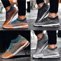 Men's Mesh Shoes Breathable Flat Comfortable Outdoor Training Running Sneakers