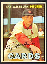 1967 TOPPS OPC O PEE CHEE BASEBALL #92 RAY WASHBURN NM ST. LOUIS CARDINALS