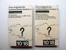 Tanguy AUX ORIGINES DU NATIONALISME BRETON 1977 2 vol DE LA VILLEMARQUÉ Bretagne