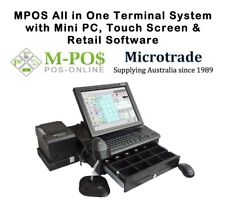 POS System, Mini Point of Sale PC. Retail software, printer, cash draw, scanner.