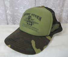 Vintage Trucker Hat Camo Desert Storm Mesh We Support Our Troops Sport Cap Snap