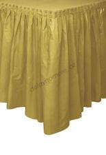 Gold Plastic Table Skirt Tableskirt Birthday Wedding Xmas Party Decoration 4.26m