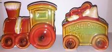 North Pole Express Salt & Pepper Shakers Christmas Xmas  - NEW