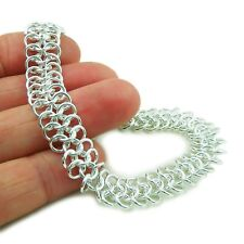 British Sterling 925 Sterling Silver Flat Cable Chain Bracelet Gift Boxed