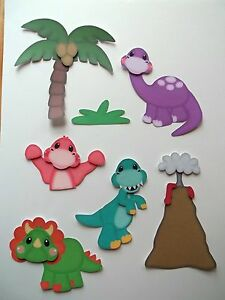 3D-U Pick- Ai5 Dinosaur Water Animals Frog Turtle Card Scrapbook Embellishment