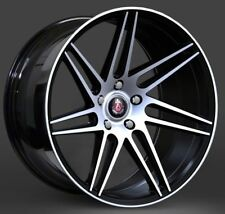 "20"" AXE EX31 ALLOY WHEELS FITS BMW 3 SERIES 4 SERIES 5 SERIES BLACK POLISHED"