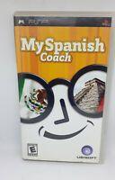 New My Spanish Coach Ubisoft UMD Sony PSP Complete Game Educational Handheld