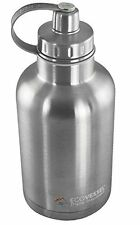 EcoVessel BOSS 64oz TriMax Triple Insulated Growler Silver Express