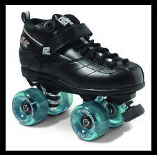 Sure-Grip Rock Gt-50 Black Roller Skates, Size 7, Teal Wheels
