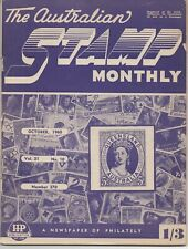 VINTAGE STAMP MAGAZINE - The Australian Stamp Monthly 1960 - OCTOBER