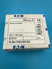 Eaton Moeller Pls6-C16/2-Dc 16 amp Circuit Breaker 16A C 6kA 2 Pole New In Box