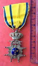 Suède - Ordre de l'Epée ( Order of the Sword ) -Superbe Croix d'Argent militaire