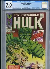 Incredible Hulk 102 - CGC 7.0 - Key - Origin of Hulk Retold - 1968 - Marvel