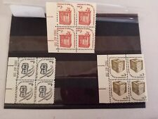 (88) 3 X BLOCK OF 4 U.S.A MNH STAMPS - U. K Seller