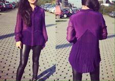 Maglie e camicie da donna a manica lunga di seta taglia 40