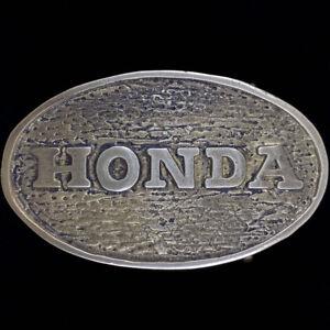 Honda Motorcycle Atc Allterrain Cycle Dirtbike Atv Brass 70 Vintage Belt Buckle