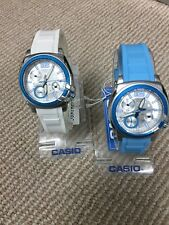 Casio Ladies Watch Steel with Rubber Strap Day/ Date 50M LTP1320B UK Seller