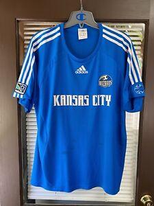 Vintage 2007 Kansas City Wizards MLS Soccer Jersey Kit Futbol Shirt Sporting KC