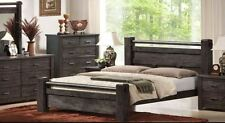 Brand  New ASHCOURT Solid Timber King Bed Frame - Charcoal -  OUT OF STOCK