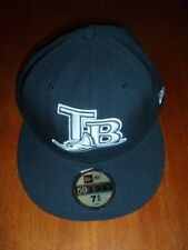 "Adult Size Official ""Tampa Bay Rays""  Baseball Cap  Size 7 3/4 Inches    NWT!!"