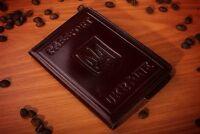 Ukrainian Passport Cover, Premium Genuine Leather Brown Cover