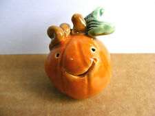 Little Guys Pumpkin Miniature Figurine Pottery Jack O Lantern Halloween