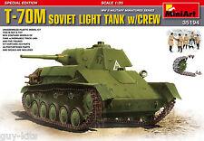 CHAR LEGER SOVIETIQUE T-70M + EQUIPAGE - KIT MINIART 1/35 n° 35194