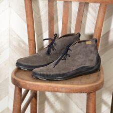 LO.WHITE scarpe uomo polacchina 28030 in pelle scamosciata grigio-blu taglia 41