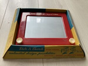 VINTAGE ETCH A SKETCH NO. 505 IN ORIGINAL BOX WITH INSTRUCTIONS WORKING ORDER