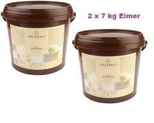 Callebaut Fondant 2 x 7 KG Eimer white Icing Rollfondant Einschlagmasse