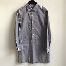 APC Womens Cotton Oxford Popover Shift Dress Pockets Sz 36