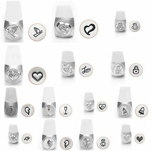 Metal Jewelry Design Stamps by ImpressArt (Love & Wedding) 6mm