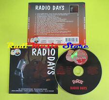 CD RADIO DAYS compilation 96 MILLER SINATRA HOLIDAY ARMSTRONG (C2)no lp mc dvd