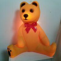 Vintage Union Products Sitting Teddy Bear Blow Mold Christmas Yard Decor Light